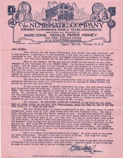 The Numismatic Company, Formerly the Numismatic Bank of Texas
