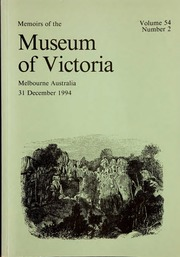 Vol 1: Occasional papers from the Museum of Victoria. Vol. 1-6 (1984 ...
