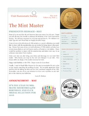 Utah Numismatic Society  The Mint Master