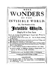 An historical essay concerning witchcraft