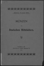 Muenzen des Deutschen Mittelalters