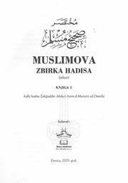 Hadisa zbirka buharija pdf
