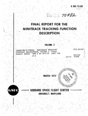 NASA Technical Reports Server (NTRS) 19730024423: Minitrack tracking function description, volume 2