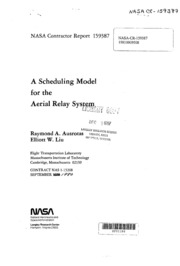 NASA Technical Reports Server (NTRS) 19810009508: A scheduling model for the aerial relay system