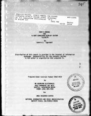 NASA Technical Reports Server (NTRS) 19810014562: User-s manual for flight Simulator Display System (FSDS)