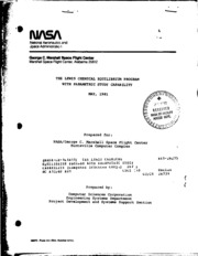 NASA Technical Reports Server (NTRS) 19810017738: The Lewis Chemical Equilibrium Program with parametric study capability