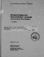 NASA Technical Reports Server (NTRS) 19820005894: Software design and documentation language: User-s guide for SDDL release 4