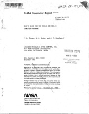 NASA Technical Reports Server (NTRS) 19840021081: User-s guide to the NOZL3D and NOZLIC computer programs