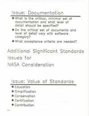 NASA Technical Reports Server (NTRS) 19860013847: NASA space station software standards issues