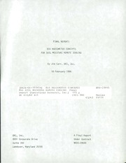 NASA Technical Reports Server (NTRS) 19860014524: EOS radiometer concepts for soil moisture remote sensing