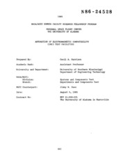 NASA Technical Reports Server (NTRS) 19860015057: Automation of electromagnetic compatability (EMC) test facilities