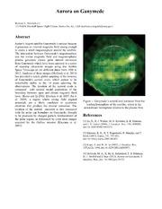 NASA Technical Reports Server NTRS 20140016496: Aurora on Ganymede
