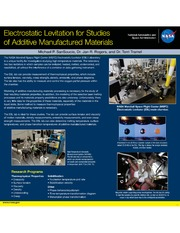 NASA Technical Reports Server NTRS 20140016510: Electrostatic Levitation for Studies of Additive Manufactured Materials