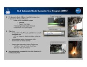 NASA Technical Reports Server NTRS 20140016898: SLS Subscale Model Acoustic Test Program SMAT