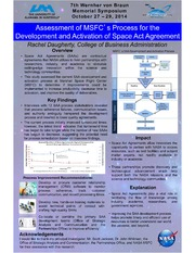 NASA Technical Reports Server NTRS 20140016905: Assessment of MSFCs Process for the Development and Activation of Space Act Agreement