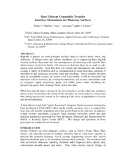 NASA Technical Reports Server NTRS 20150000177: Dust Tolerant Commodity Transfer Interface Mechanisms for Planetary Surfaces