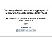 NASA Technical Reports Server NTRS 20150001346: Technology Development for a Hyperspectral Microwave Atmospheric Sounder HyMAS