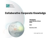 NASA Technical Reports Server NTRS 20150019628: Collaborative Corporate Knowledge