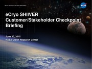 NASA Technical Reports Server NTRS 20160000334: eCryo SHIIVER Customer-Stakeholder Checkpoint Briefing