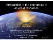 NASA Technical Reports Server NTRS 20160000928: Introduction to the Economics of Asteroid Resources