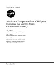 NASA Technical Reports Server NTRS 20160001628: Solar Proton Transport within an ICRU Sphere Surrounded by a Complex Shield: Combinatorial Geometry