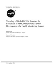 NASA Technical Reports Server NTRS 20160001633: Modeling of Global BEAM Structure for Evaluation of MMOD Impacts to Support Development of a Health Monitoring System