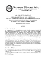 Numismatic Bibliomania Society 2019 Benefit Auction