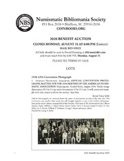 Numismatic Bibliomania Society 2020 Benefit Auction