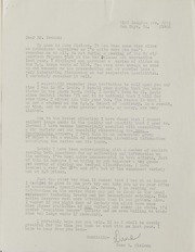 Assorted Correspondence and Ephemera File: NI to NU