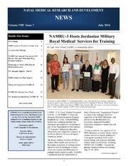Naval Medical Research and Development News Vol VIII Issue 7