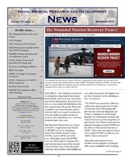 Naval Medical Research and Development News Vol VII Issue 11