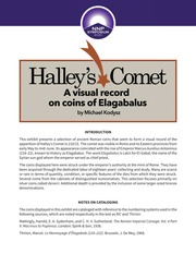 Halley's Comet: A Visual Record on Coins of Elagabalus