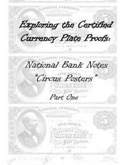 National Bank Notes Circus Poster Bank Notes of 1882 Plate Proof Examples (Part 1)