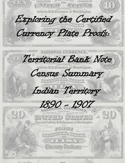National Bank Notes Indian Territory (1890-1907) Plate Proof Census Summary