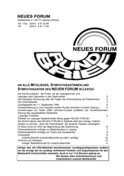 1994-07 NEUES FORUM Leipzig - Rundbrief
