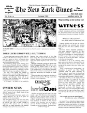 New Zork Times : Free Texts : Free Download, Borrow and