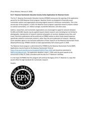 Newman Grant Press Release (2020)