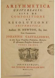 Newton Arithmetica Universalis...