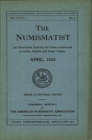 The Numismatist, April 1923