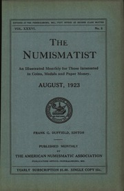 The Numismatist, August 1923