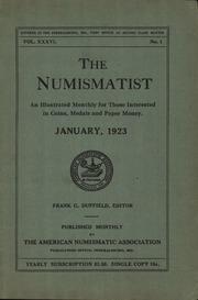 The Numismatist, January 1923
