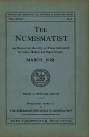 The Numismatist, March 1923