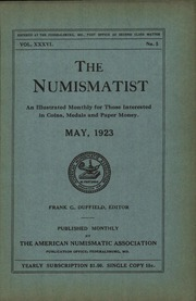 The Numismatist, May 1923