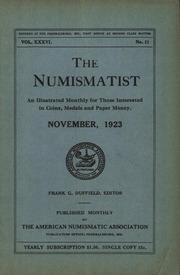The Numismatist, November 1923