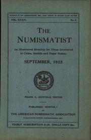The Numismatist, September 1923