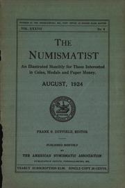 The Numismatist, August 1924
