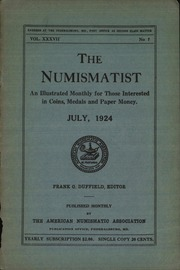 The Numismatist, July 1924