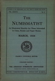 The Numismatist, March 1924