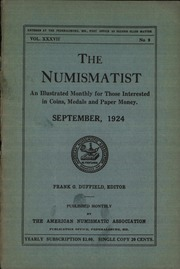 The Numismatist, September 1924