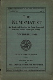 The Numismatist, December 1925